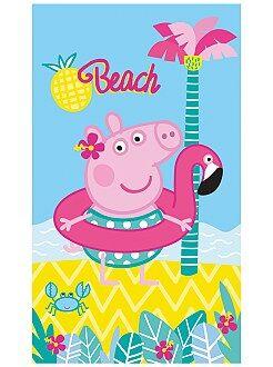 Atoalhados - Lençol de praia 'Porquinha Peppa' - Kiabi
