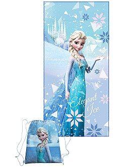 Mochila , avental de escola - Lençol + saco de piscina 'Frozen' - Kiabi