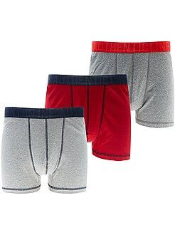 Roupa interior - Lote 3 boxers de tamanho grande - Kiabi