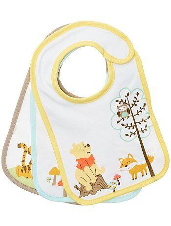 Menino 0-36 meses - Lote de 2 babetes 'Winnie' - Kiabi