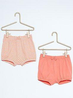 Menina 0-36 meses Lote de 2 boxers de praia em algodão