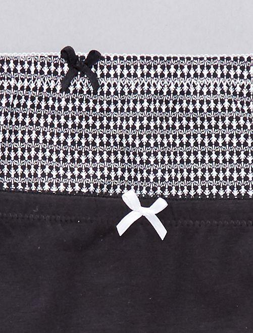 caca68a6d Lote de 2 cuecas em algodão Lingerie do s até xxl - negro - Kiabi ...