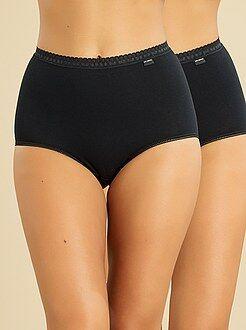 Lote de lingerie - Lote de 2 cuecas maxi de algodão 'Sans Complexe' - Kiabi