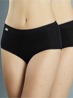 Lote de lingerie - Lote de 2 cuecas Midi em algodão 'Playtex'