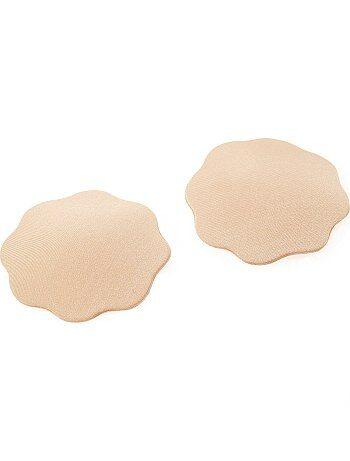 Lote de 2 oculta-mamilos adesivos em tecido - Kiabi