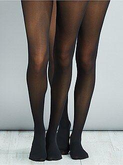 Collants, meias - Lote de 2 pares de collants 40 deniers - Kiabi