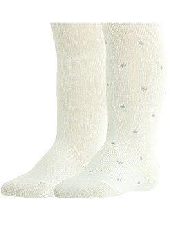 Collants, meias - Lote de 2 pares de collants