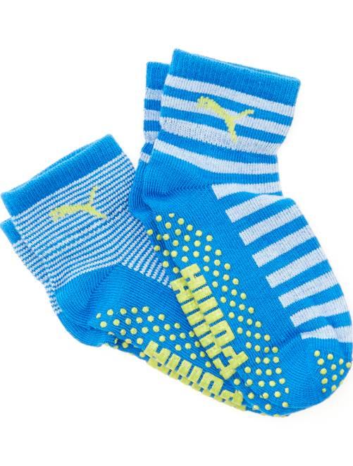 Lote de 2 pares de meias antiderrapantes 'Puma'                                         azul Menino 0-36 meses