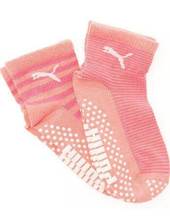 Lote de 2 pares de meias antiderrapantes 'Puma' - Kiabi