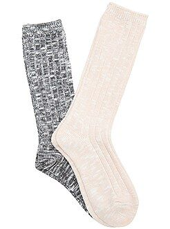 Collants, meias - Lote de 2 pares de meias - Kiabi