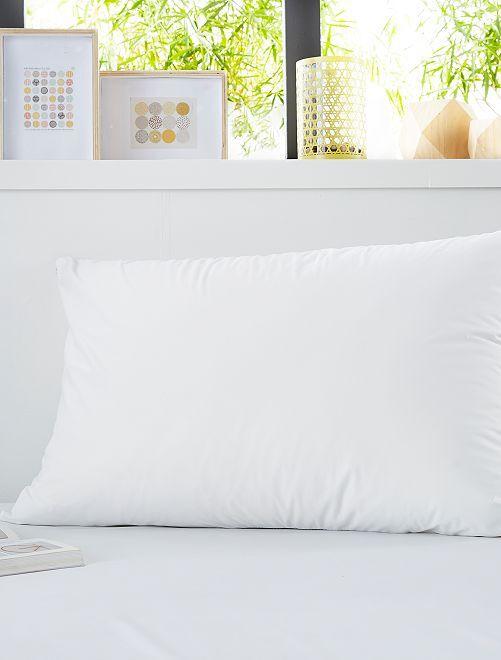 Lote de 2 resguardos de travesseiros                             Branco
