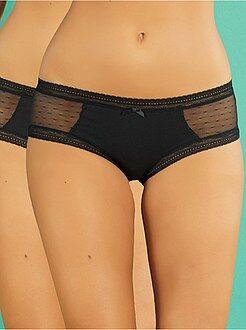 Lote de lingerie - Lote de 2 shorties em algodão em renda 'DIM'