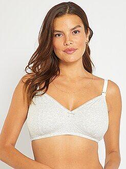 Lote de lingerie - Lote de 2 soutiens de amamentação de algodão - Kiabi