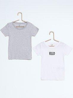 Lote de 2 t-shirts algodão