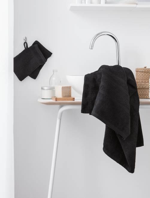 Lote de 2 toalhas de banho 30 x 50 cm, 500 g                                                                             Preto