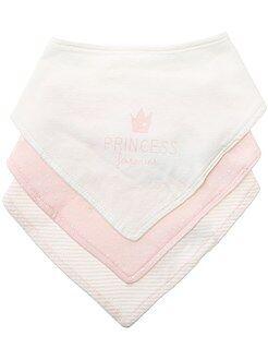 Babetes para bebé - Lote de 3 babetes com bandana