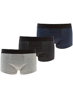 Homem do S até XXL Lote de 3 boxers curtos