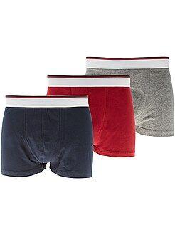 Lote de 3 boxers de algodão elástico - Kiabi