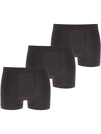 Lote de 3 boxers de microfibra sem costuras - Kiabi