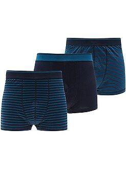 Roupa interior - Lote de 3 boxers de tamanho grande - Kiabi