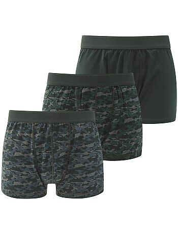 Homem tamanhos grandes - Lote de 3 boxers de tamanho grande - Kiabi