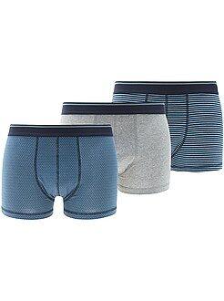 Roupa interior - Lote de 3 boxers em algodão elástico