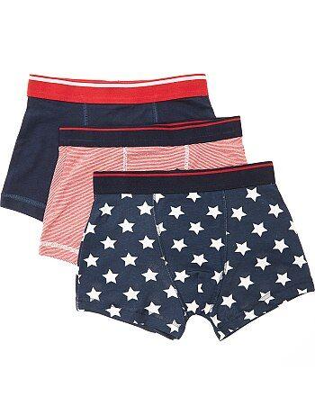 Lote de 3 boxers estampados 'bandeiras USA' - Kiabi