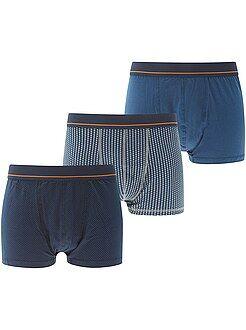 Roupa interior - Lote de 3 boxers estampados de tamanho grande - Kiabi