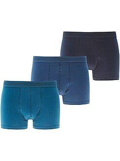 Roupa interior - Lote de 3 boxers lisos - Kiabi