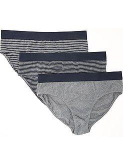 Roupa interior - Lote de 3 cuecas em algodão elástico