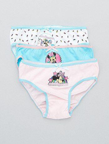 9d49c207a Menina 3-12 anos - Lote de 3 cuecas  Minnie Mouse  - Kiabi