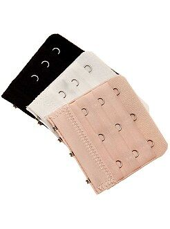 Acessórios lingerie - Lote de 3 extensores de soutien e 3 colchetes - Kiabi