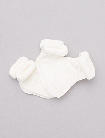 819727f0f Menina 0-36 meses - Lote de 3 pares de meias algodão biológico - Kiabi
