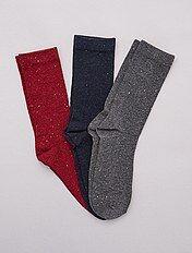 Lote de 3 pares de meias às pintas