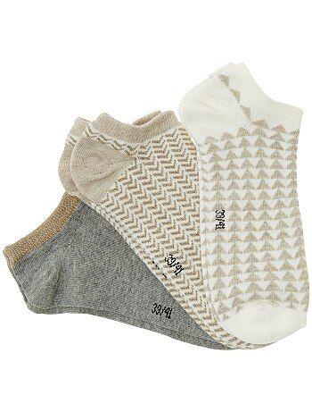 Lote de 3 pares de meias curtas - Kiabi