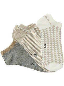 Lote de 3 pares de meias curtas