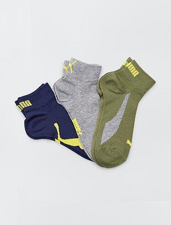 fa34c38ee Lote de 3 pares de meias curtas 'Puma' - Kiabi
