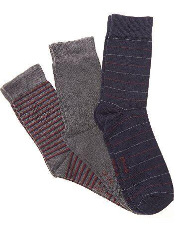 720877644b Lote de 3 pares de meias de fantasia - Kiabi