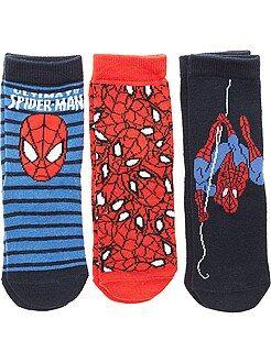 Meias - Lote de 3 pares de meias 'Homem-Aranha'