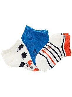 Meias, collants - Lote de 3 pares de meias invisíveis - Kiabi