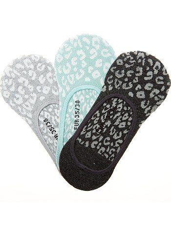 Lote de 3 pares de meias invisíveis - Kiabi