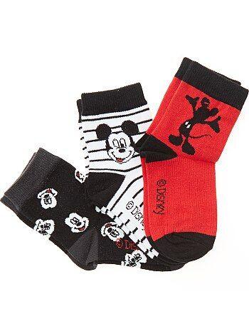 Lote de 3 pares de meias 'Mickey' - Kiabi