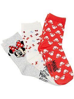 Collants, meias - Lote de 3 pares de meias 'Minnie'