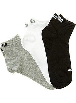 Meias - Lote de 3 pares de meias 'Puma' cano curto - Kiabi