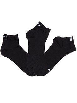 Meias - Lote de 3 pares de meias 'Puma' cano curto