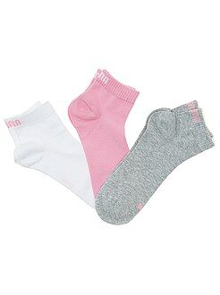 Collants, meias - Lote de 3 pares de meias 'Puma' cano curto - Kiabi