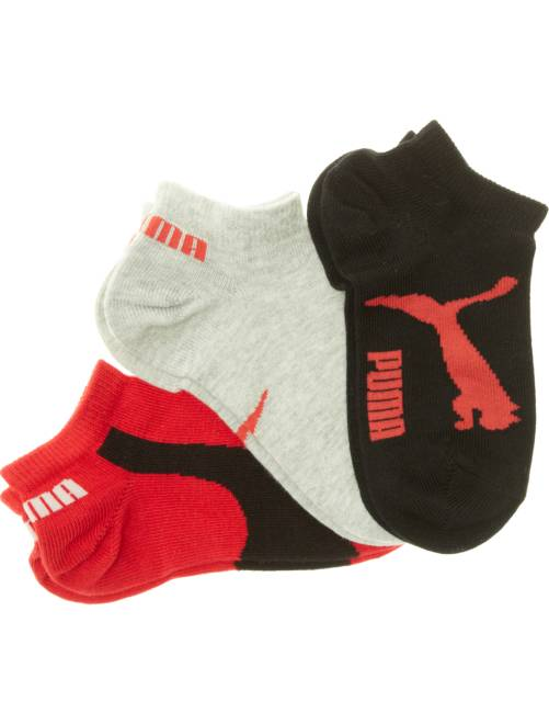 Lote de 3 pares de meias 'Puma' de cano curto                                                     negro Menina 3-12 anos