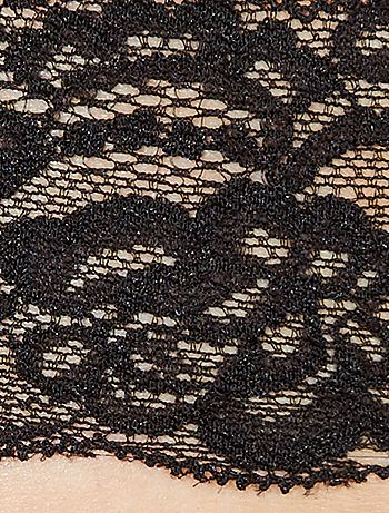 38807c7cb Lote de 3 tangas em renda Lingerie do s até xxl - Preto - Kiabi - 8,00€
