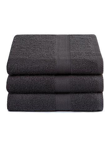 Lote de 3 toalhas de banho em puro algodão - Kiabi