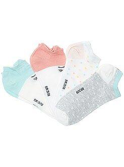 Collants, meias - Lote de 4 pares de meias invisíveis - Kiabi